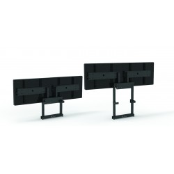 MINI-W DUO, Soporte para dos display motorizado en pared